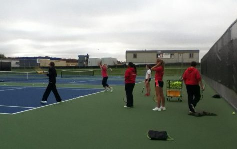 Girls Tennis plays at Fox Valley Conference