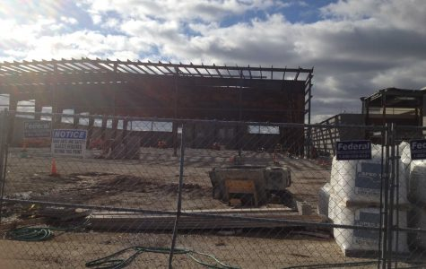 Construction of the athletic field house (S.Henderson).