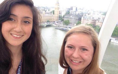Murray (left) and Ashley (right) O'Brien on the London Eye overlooking Big Ben (Courtesy of Caitlin Murray).