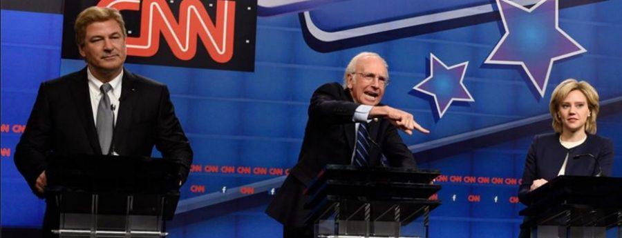 Actors from Saturday Night Live mock Democratic Presidential hopefuls at CNN's Democratic Debate (Courtesy of www.facebook.com/snl/photos_stream).