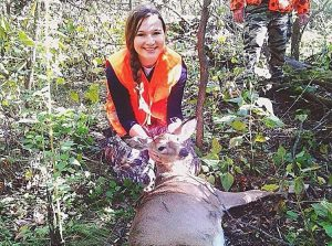 Bryczek with her second kill of the season. (Courtesy of G. Bryczek)
