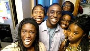Ayemoba and all of her cousins after a long day touring London (Courtesy of A. Ayemoba).