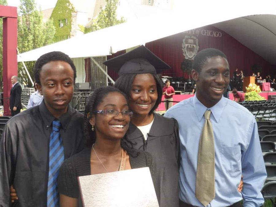 Ayemoba+and+her+siblings+at+her+sister%27s+graduation%2C+where+they+learned+of+the+surprise+trip.