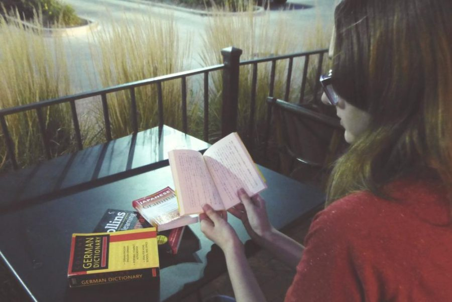 Junior Haley Smalley studies languages. (Photo courtesy of E. Kindl)