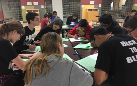 The HHS Math Team studies for the Grant HS Invite (L. Jenkins)