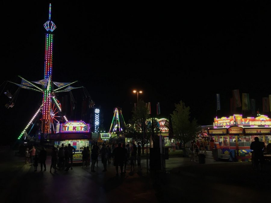Some of the most popular rides at the festival.