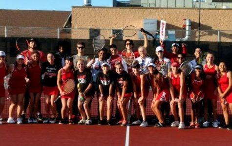 Huntley girls tennis silence the Thunderbirds as they conclude regular season