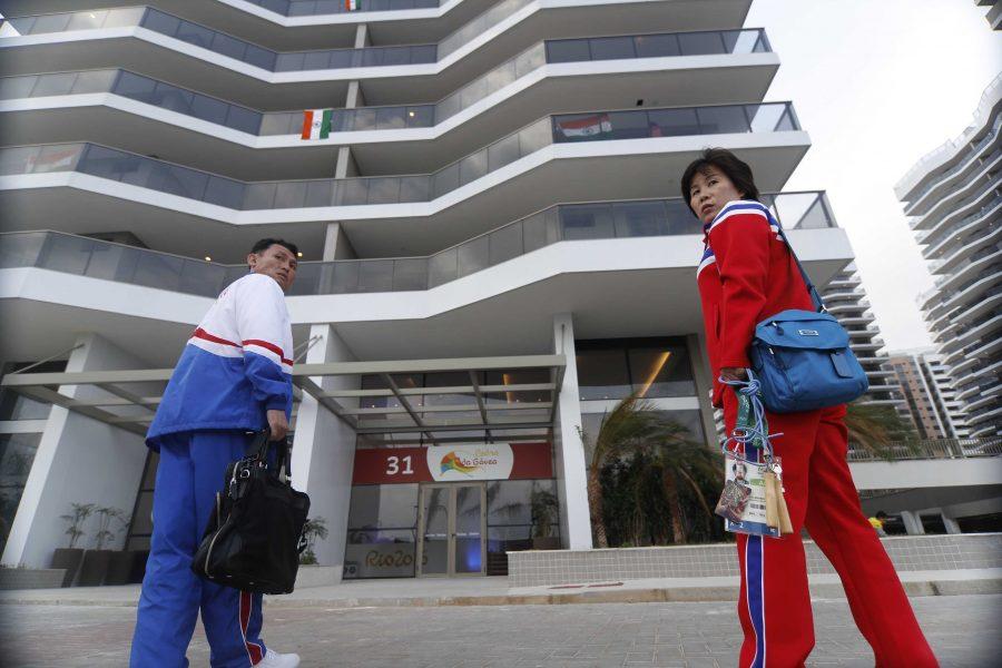 Rio de Janeiro - Representatives of North Korea at the Rio 2016 Olympic Village. (Photo: Fernando Frazão/Agência Brasil)