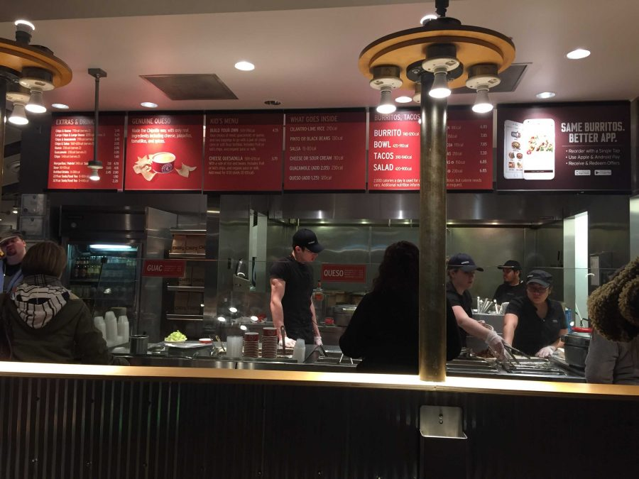 The Chipotle off of Algonquin flocked with people on Tuesday night  in support of the Speech Team