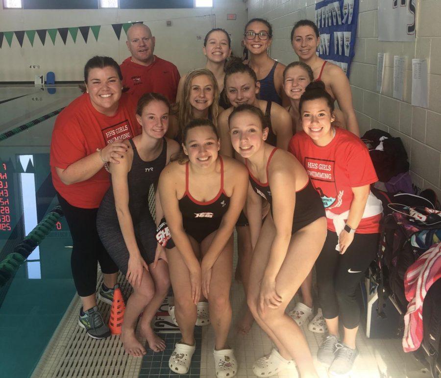 Huntley Girls Swim Swam to Success