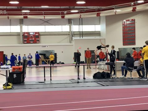 HHS Boys Track places first at indoor invite