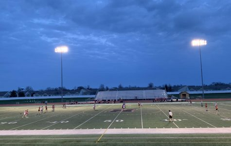 Varsity girls lacrosse holds their own against Barrington High School