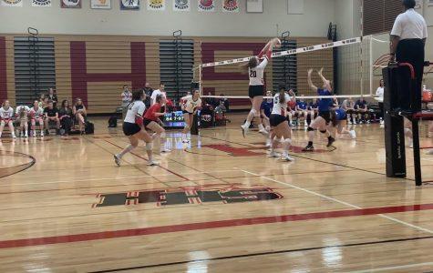 Girls volleyball beats Burlington Central during emotional senior night