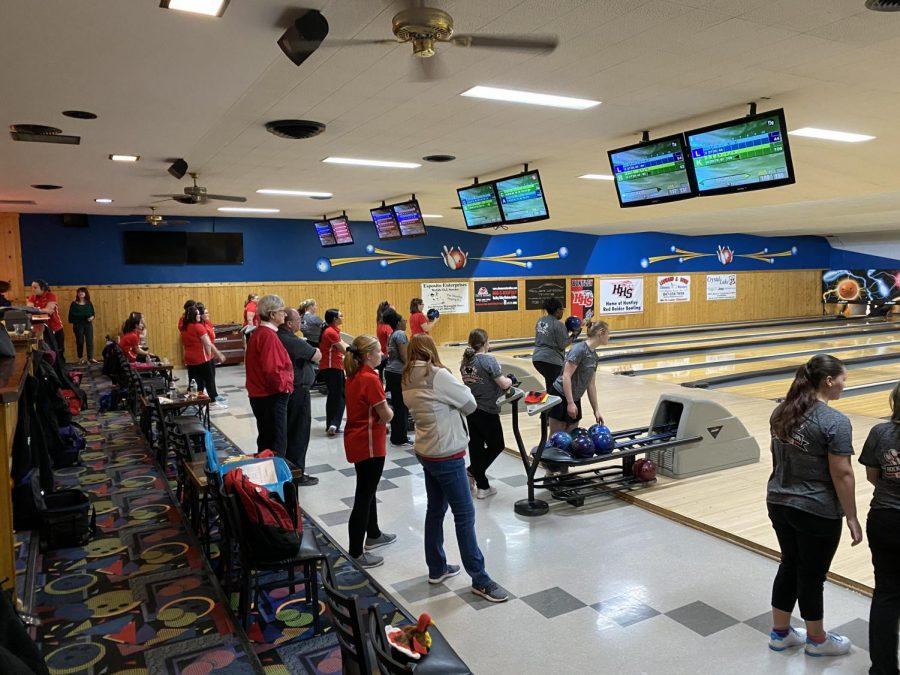 Huntley High School girls bowling loses against Rockford Auburn