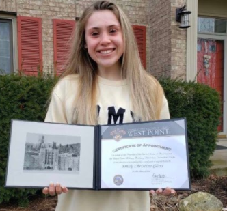 Emily excited receiving her acceptance letter