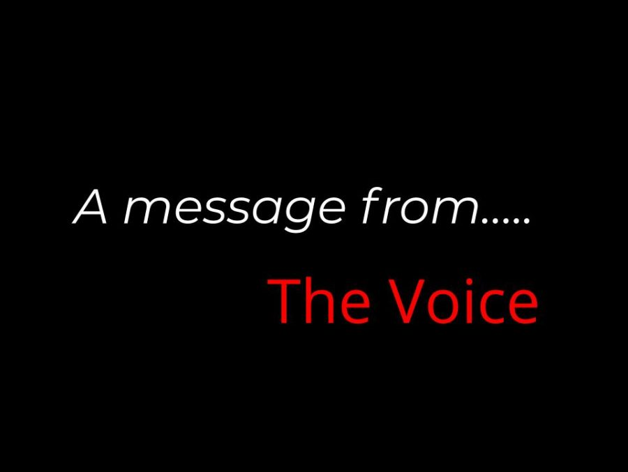 A message from The Voice....
