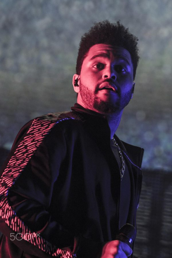 The Weeknd performs during the Superbowl Halftime Show