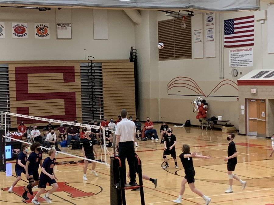 Boys volleyball give their all against St. Viator