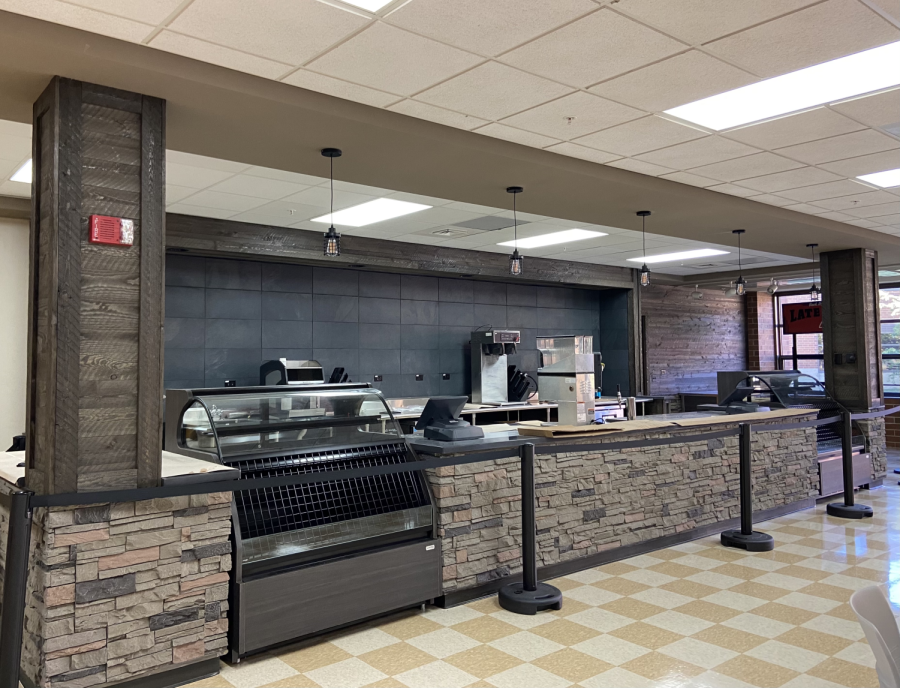 A look at the brand new coffee shop implemented in HHS's Commons area. (F. Brady)