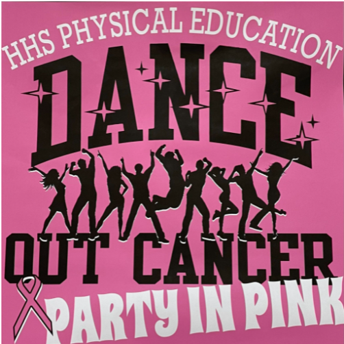 2021 HHS Dance Out Cancer event, time to party in pink. (J. Smith)