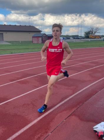 Huntley's fastest runner: Freshman Tommy Nitz